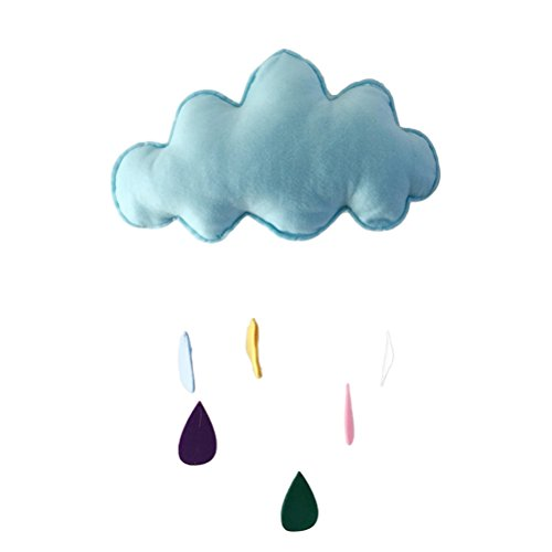VORCOOL Bébé Chambre Décor Suspendu Sticker Mural Enfants Jouent Tente Décoration Accessoires Props Jouets Pluie des Nuages Goutte d'eau Ornement