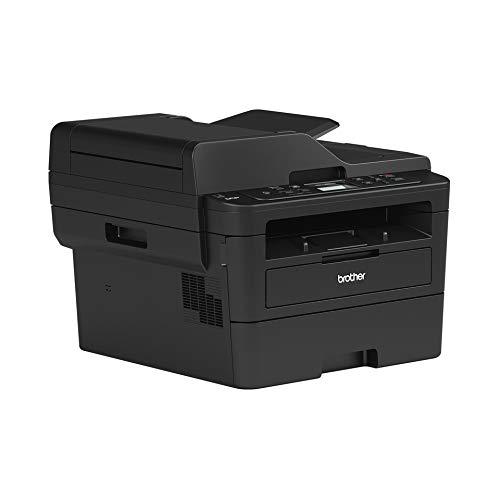 Brother DCPL2550DN - Impresora multifunción láser 3 en 1, Color Blanco y Negro, 34 ppm con Tarjeta de Red Cableada (no WiFi), impresión a Doble Cara automática, ADF de 50 Hojas y Pantalla LCD