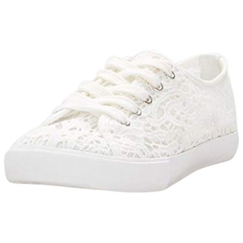 David's Bridal Lace Crochet Sneakers Style Carrson, White, 6