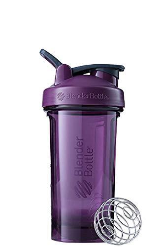 BlenderBottle Pro24 Tritan Trinkflasche mit BlenderBall, optimal geeignet als Eiweiß Shaker, Protein Shaker, Wasserflasche, BPA frei, skaliert bis 500 ml, Fassungsvermögen 710 ml, lila