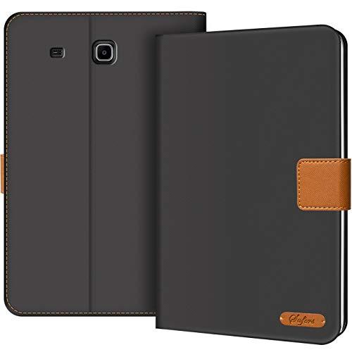 Verco Hülle für Samsung Galaxy Tab E 9.6, Schutzhülle Tablet Tasche Standfunktion Cover [T560 T561], Schwarz