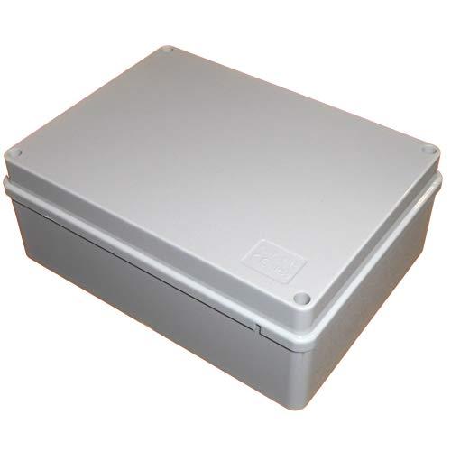 Abzweigdose, Verteilerkasten, 190 mm x 140 mm x 70 mm, wasserdicht, IP56, PVC-Kunststoff, anpassungsfähig, für Außenbeleuchtung, Kabelanschluss