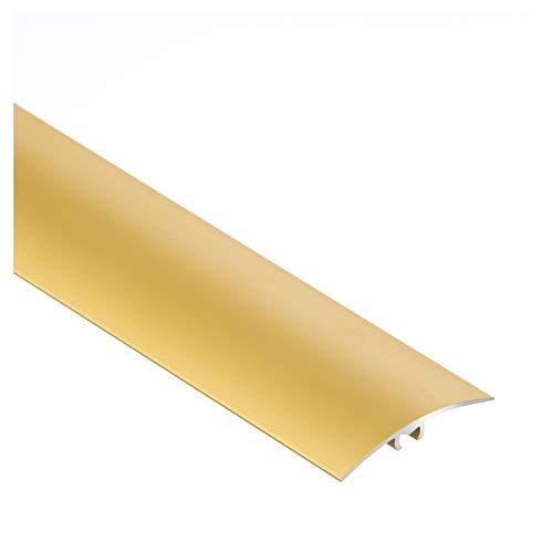 Aluminium-Türschwelle, Übergangsprofil, Schutzleiste, Übergangsschiene mit Befestigungsstifte, 40 x 1000 mm Gold – CEZAR
