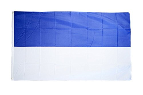 Flaggenfritze Fahne/Flagge Blau-Weiß - 150 x 250 cm + gratis Sticker, XXL-Fahne
