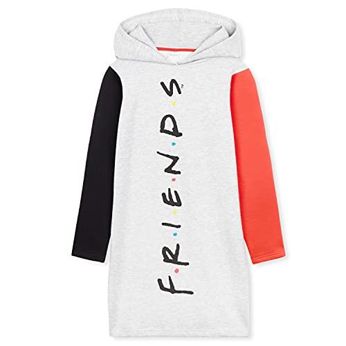 Friends Merchandising, Sudaderas Mujer, Sudaderas Anchas con Capucha, Vestido Sudadera Mujer, Regalos para Mujer y Adolescente Talla S-XL (Gris, M)