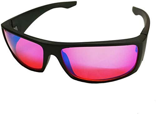 CDFC Gafas correctivas daltónicas para daltónico Rojo Verde, para Deutan Suave y protan daltonismo moderado Trastorno de la visión del Color Debilidad del Color Unisex