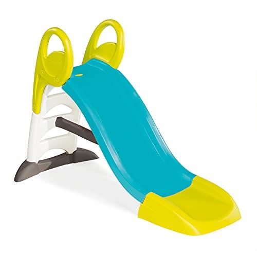 Smoby 310269 – KS Rutsche – kompakte Kinderrutsche mit Wasseranschluss, 1,5 Meter lang, mit Rutschauslauf, Verstrebung, Haltegriffen, für Kinder ab 2 Jahren