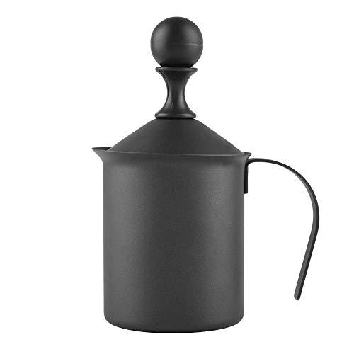 Handmatige melkopschuimer, roestvrij staal Handmatige dubbele mesh melkopschuimer schuimmachine voor koffie cappuccino decoratie tool (400ml)