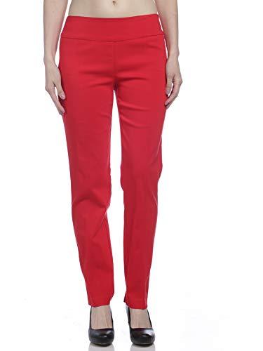 Zac & Rachel Women's Millenium Pull On Pants, Racing Red, 8