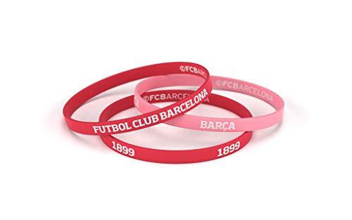 Fútbol Club Barcelona Braccialetto rosso corallo Junior per donna e bambino   Braccialetto Barça in silicone   supporta il FC Barcelona con un prodotto ufficiale del club   FCB