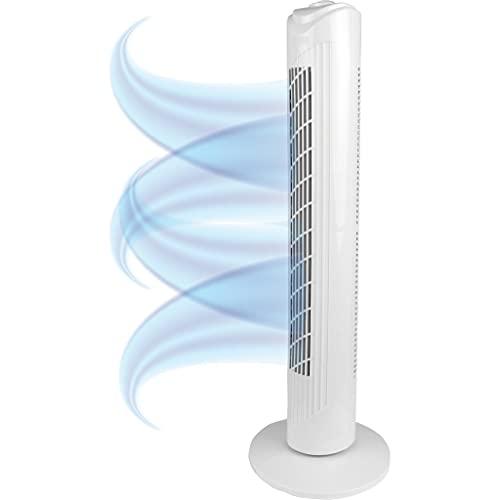 Bestlivings Turmventilator 82cm Weiß Extra Leise, Standventilator 45W, Ventilator - Standventilator mit Oszilation