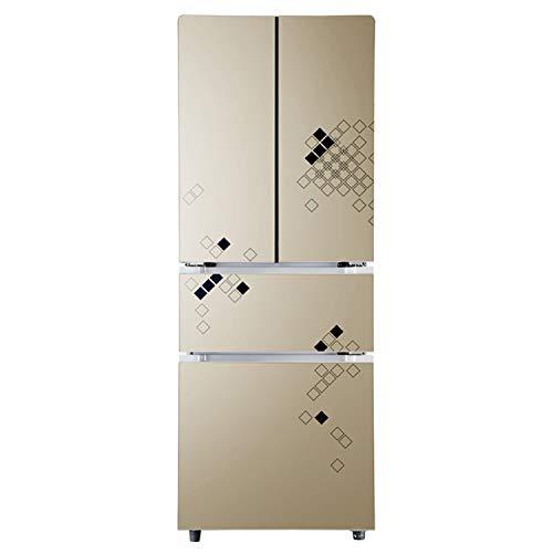 Kühlschrank 4-türiger, energiesparender Haushaltskühlschrank mit Gefrierfach Kühlschrank Edelstahlkühler Heizung Kühlung Mineralwasser Getränke Kaffee Obst- und Gemüsekonservierung Lagerung Gefriersch