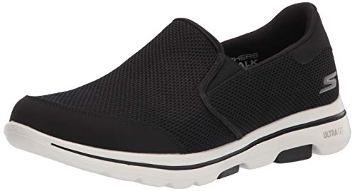 Skechers Men's Gowalk 5 Apprize-Double Gore Slip on Performance Walking Shoe Sneaker, Black/White 2, 12