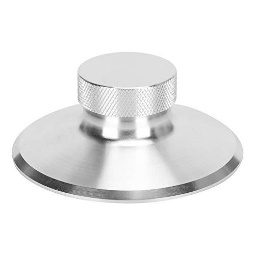 PUSOKEI Estabilizador de Peso de Registro, Tocadiscos de Vinilo LP, Abrazadera de Disco de aleación de Aluminio, estabilizador de Registro portátil con Tratamiento de Superficie de ánodo(Plata)