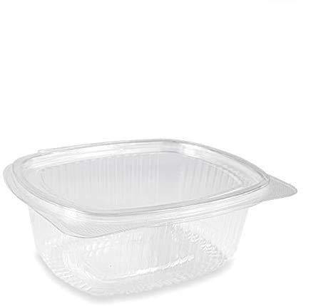 VIRSUS Boite ovales en PET transparent de 750 cc avec couvercle combiné et avec fermeture hermétique pack de 50 pièces, boîtes alimentaires en plastique dur avec couvercles