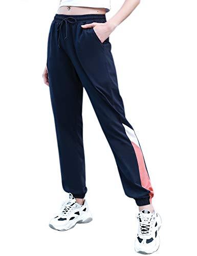 Irevial 100% Algodon Pantalones para Mujer Tallas Grandes Casual Pantalones Chandal Deportivos...