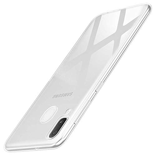 wsky Handyhülle Kompatibel mit Samsung Galaxy A20e Hülle Transparent, Ultra Dünn Silikon Handyhülle, Anti-Gelb Durchsichtige Hülle, Crystal Clear Schutzhülle für Samsung Galaxy A20e