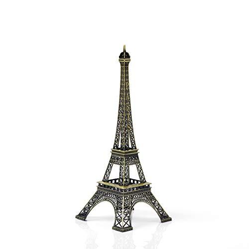 (32CM) - 32cm Creative Metal Paris Eiffel Tower Model Figurine Travel Souvenirs Home Decoration Photo Prop Crafts