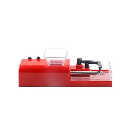 HYZXK Automatic Cigarette, Mini Tobacco Roller Maker, Automatic Electric Cigarette Rolling Electric Easy Automatic Red
