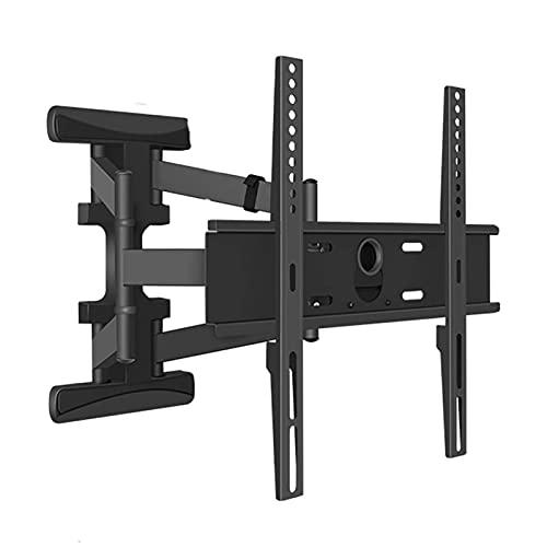 Soporte universal para TV de sobremesa Soporte fijo de pared para TV, soporte de pared para TV ultradelgado para TV LED LCD de plasma Full HD de 32-55 pulgadas Max VESA 400x400, capacidad 45 kg (tama