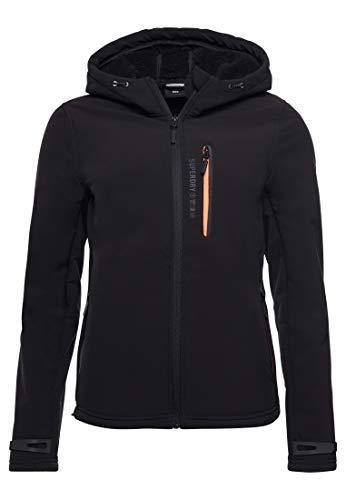 Superdry Womens Arctic Soft Shell Jacket, Black, M