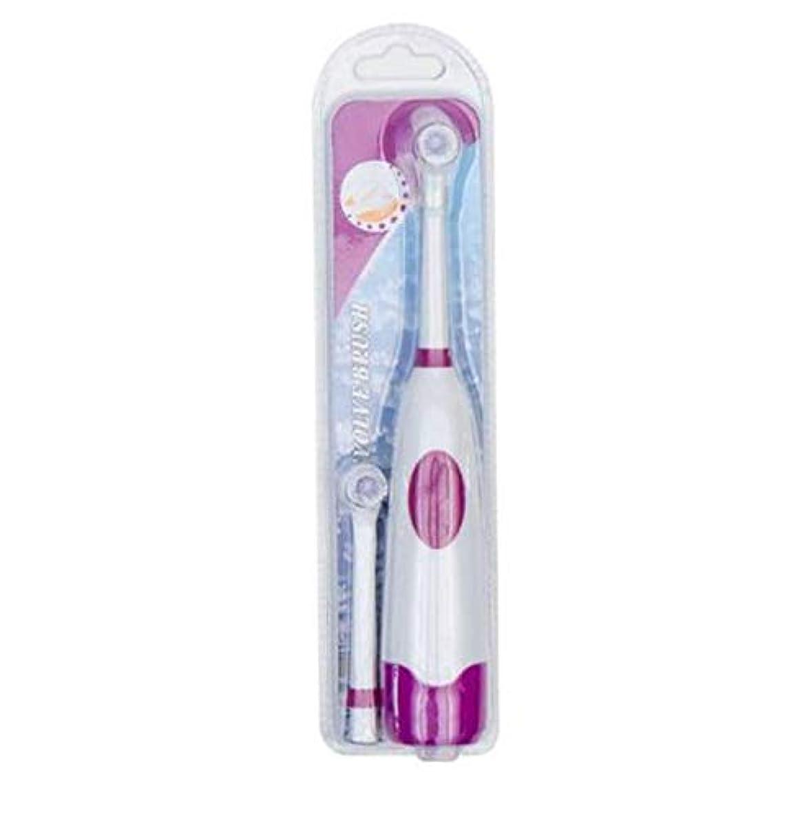 良心測る討論1セット電動歯ブラシ付き2ブラシヘッド電池式口腔衛生子供用充電式歯ブラシなし,C