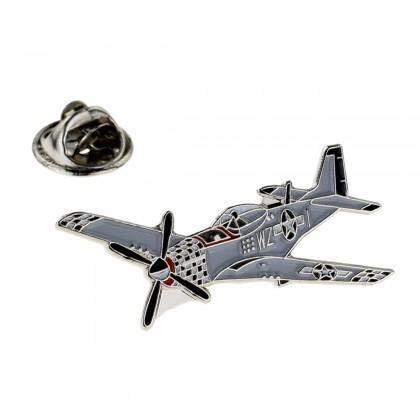 Ashton en Finch Vliegtuig Militaire P51 Mustang Vliegtuigen Metalen Emaille Lapel Pin Badge
