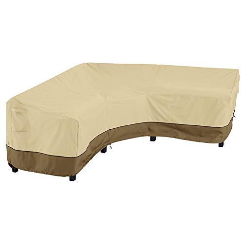 TAKE FANS Furniture Cover - Funda para sofá en forma de V, resistente al agua y al polvo, tela Oxford