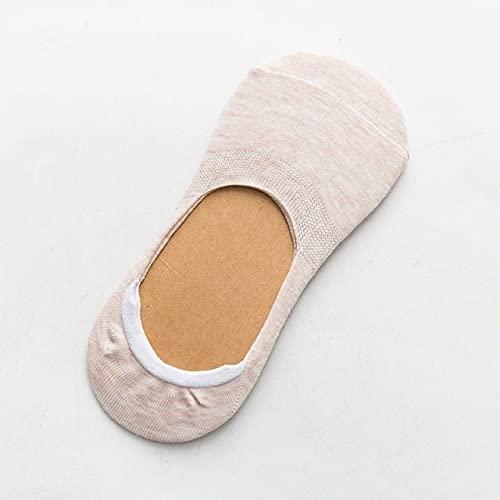 5 Pares de Calcetines de Primavera y Verano para Mujer, Color sólido, Moda, Salvaje, Boca Baja, niñas, Calcetines Invisibles Invisibles para Mujer-a12-b12