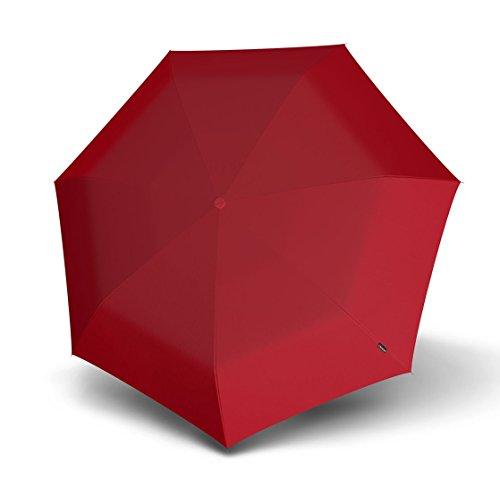 Knirps AluLine Mini Piccolo Regenschirm Taschenschirm Schirm Rot Red