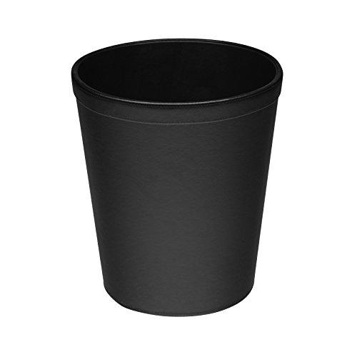 Osco Papierkorb aus Kunstleder Schwarz