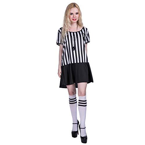 EraSpooky Disfraz de Árbitro de Mujer Disfraz Deportivo Fiesta de Halloween Cosplay Outfit para Damas Adultas