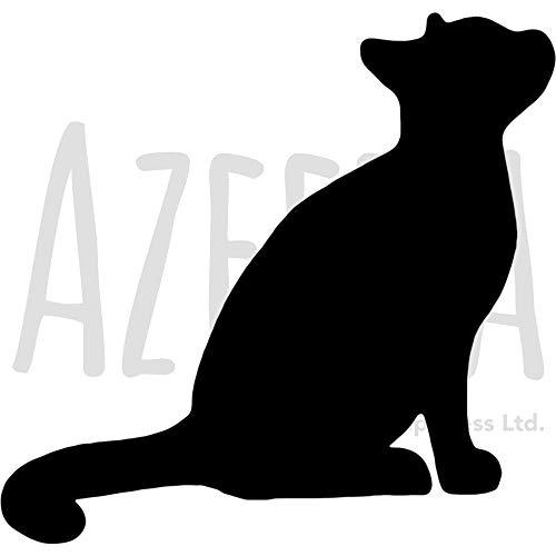 A3 'Sitzende Katze' Wandschablone / Vorlage (WS00014430)