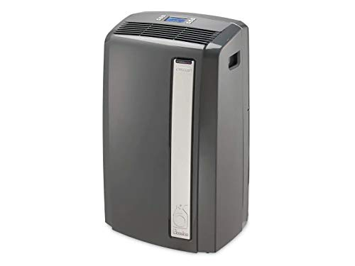 DeLonghi 4-in-1 Portable Air Conditioner, Dehumidifer, Heater & Fan + Arctic Cool Quiet Mode with Remote Control & Wheels, 500 sq. ft, Large Room, Black