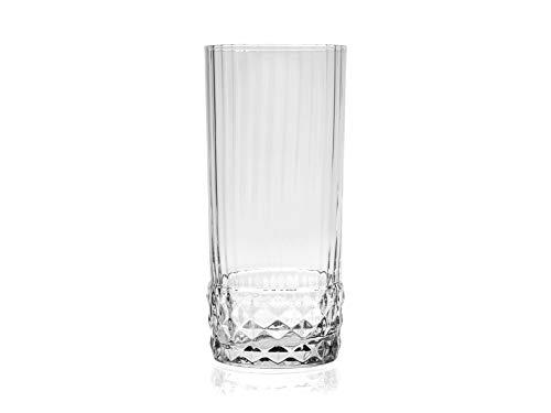 Bormioli Rocco - Juego de 6 vasos americanos 20, de cristal, cl48