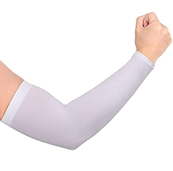 Simplicity Outdoor Sports UV Sun Protection Cooling Forearm Sleeves White