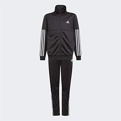 adidas 3 Stripes Team, Tuta da Ginnastica Bambino, Top: Nero/Bianco Fondo: Nero/Bianco, 1314