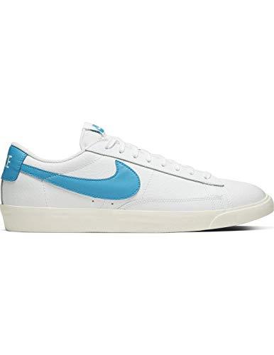 Zapatillas Nike Blazer Low Leather White/Laser Azul Hombre 44