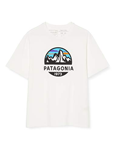 Patagonia M's Fitz Roy Scope Organic T-Shirt pour Homme L Blanc