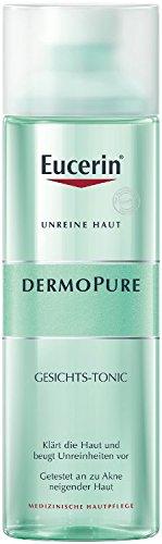 Eucerin Dermopure Gesichts-Tonic (1 x 200ml), Gesichtswasser klärt und reinigt unreine Haut, bereitet die Haut auf die anschließende Pflege vor