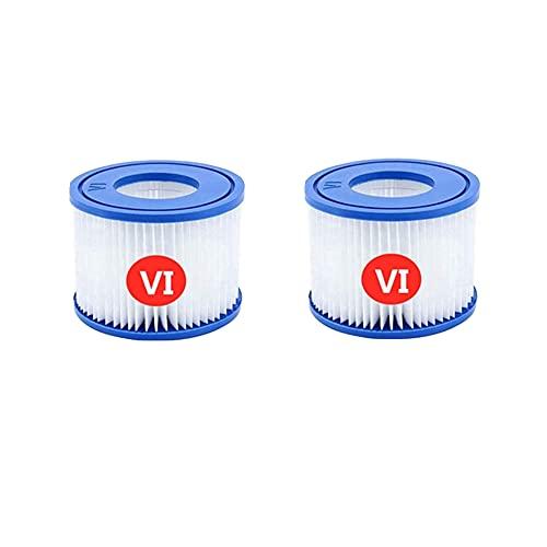 RZKJ Cartucho Filtro de Piscina Tipo Vi para Bestway 8320503 Filtro para Depuradora (Vi) Piscina para Lay-Z-SPA. (2 Unidades)
