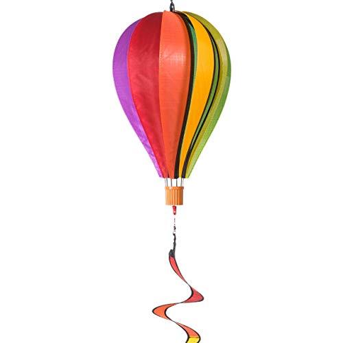 CIM Wind Spinner - Satorn Twister Regenboog - Weerbestendig - Ballon: Diameter - 23cm x 37cm, Spiraal: 11 cm x 50cm - Inclusief ophanging