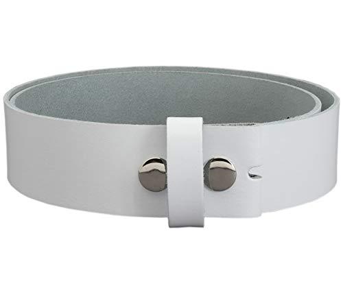 Vascavi ® Wechselgürtel aus Rindsleder, Ledergürtel, 4 cm breit und ca. 0,33 cm stark, Made in Germany, 4-OS1 (100 cm Gesamtlänge 115 cm, Weiß)