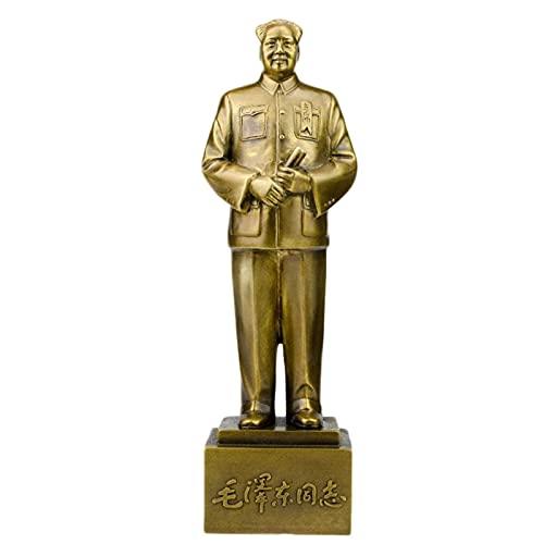 WQQLQX Statue Vorsitzender Mao Statue Ganzkörper Reiner Kupfer Mode Statue des Vorsitzenden Mao Mao Zedong Statue Wohnzimmerdekorationen Skulpturen (Size : A 25.8 * 5.5 * 7.3cm)