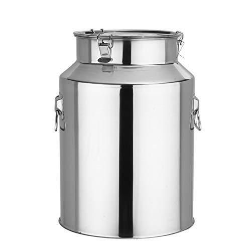 Oven Pottinerario con Tapa de Acero Inoxidable, preparación de ollas de Cocina para la Cerveza Elaboración de Arce de sirope de Arce Grande. (tamaño : 24L)