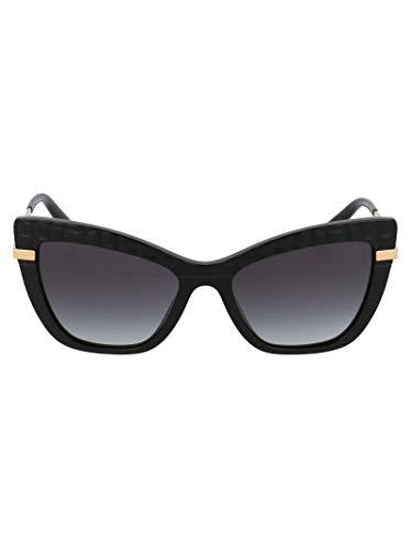 Dolce e Gabbana Moda De Lujo Mujer DG437432888G Negro Metal Gafas De Sol   Temporada Permanente