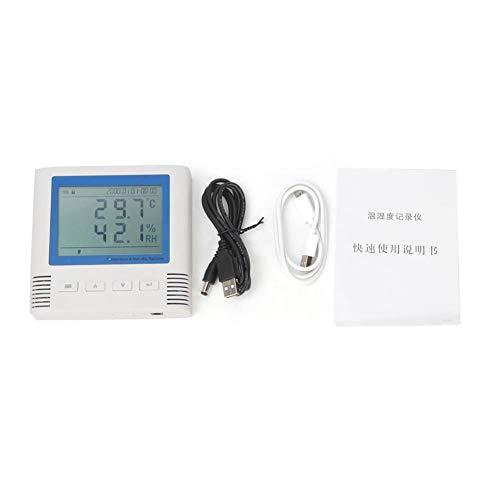 Datalogger voor temperatuur- en luchtvochtigheidsbevochtigingsrecorder oplaadbaar gegevensgeheugen voor 3 miljoen USB-groepen voor de koelketting.
