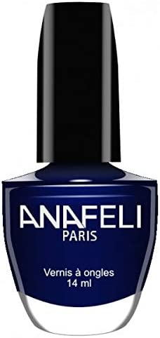 Anafeli Paris – Esmalte de uñas Nº 108 – Azul noche nacarada