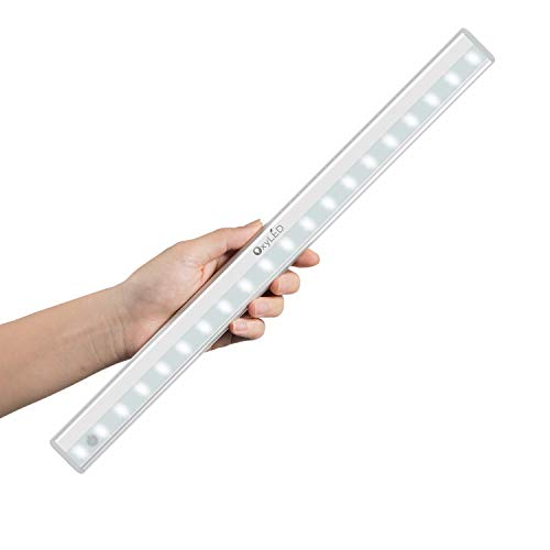 Tap Lights, OxyLED USB Rechargeable Dimmable 20-LED Wireless Mirror Lights, Portable Vanity Lights Night Light Bar with Touch Sensor, Safe Lights for Hallway, Bathroom, Bedroom, Kitchen