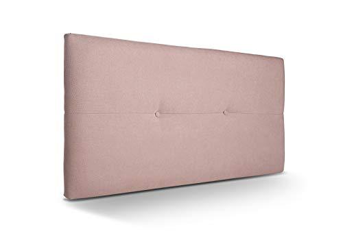 SUENOSZZZ - Cabecero de Madera Jazmin, tapizado Acolchado, en Tela Rio14 Color Salmon Cabeceros Madera para Dormitorio | Cama Matrimonio | Cama Juvenil | Camas de 105 cm, 90 cm, 80 cm